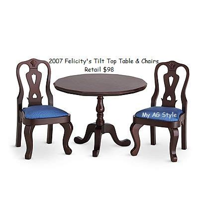 american doll chair that attaches to table american doll felicity s table chairs felicity