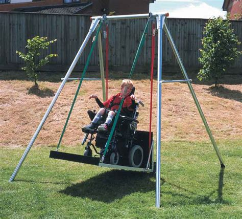 swings for disabled wheelchair platform