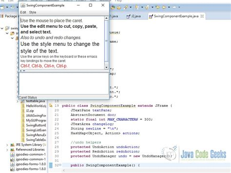 swing component in java java swing component tutorial exles java code geeks