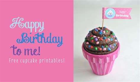 Free Happy  Ee  Birthday Ee   Cupcake Topper Printable Club Chica