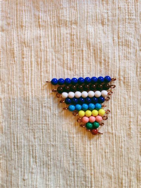 montessori bead stair liczba najlepszych obraz 243 w na temat 38 kolorowe schodki