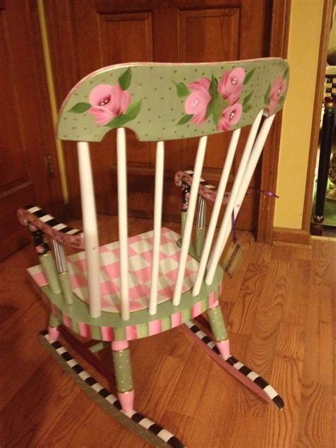 painted chair ideas made painted childs rocking chair by michele