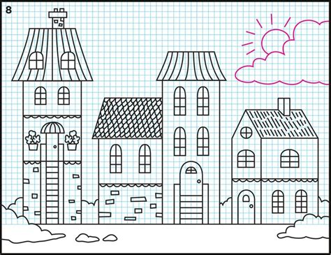 easy kids drawing lessons how to draw a cartoon house drawn town easy pencil and in color drawn town easy
