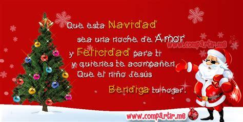 imagenes y frases de merry christmas tarjeta navide 241 a con imagen de santa claus y frase de feli