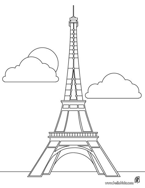 eiffel tower template eiffel tower coloring pages and stencils clip wallhi