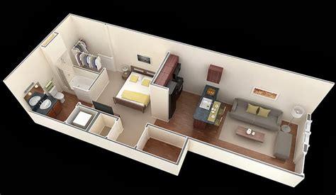 1 Bedroom Apartments Austin Tx departamentos peque 241 os planos y dise 241 o en 3d construye