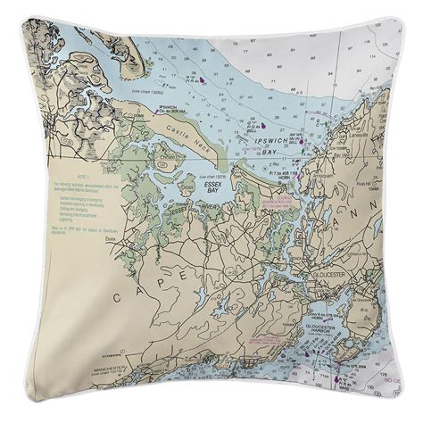 Pillow Ma by Ma Essex Ma Nautical Chart Pillow