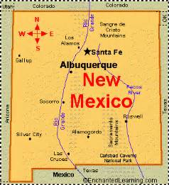 New Mexico City Map by New Mexico Facts Map And State Symbols