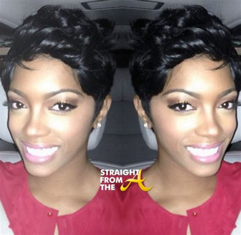 image of porsche williams without hair weave new doo alert porsha stewart sheds her weave and comes up