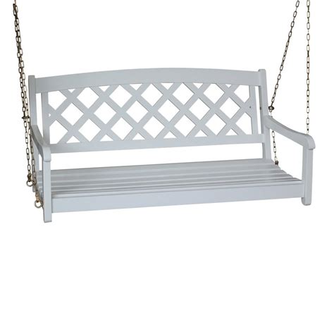lowes porch swings shop international concepts white porch swing at lowes com
