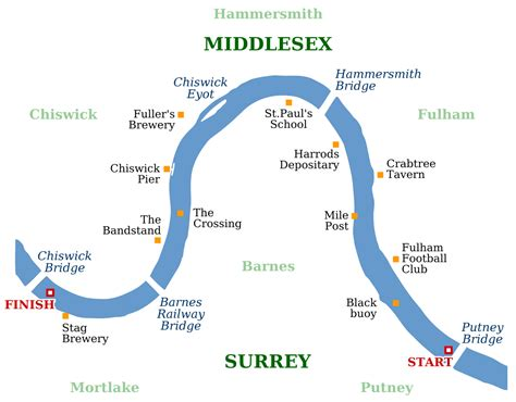 river thames surrey map the chionship course wikipedia