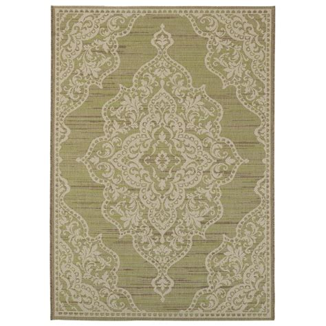 cecil rug green home decorators collection cecil green 3 ft 9 in x 5 ft 5 in indoor outdoor area rug