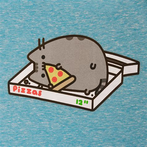 the gallery for gt pusheen eating pizza
