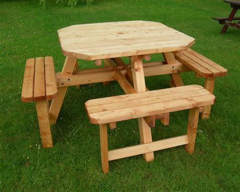buy picnic bench octagonal 8 seater picnic bench garden furniture buy