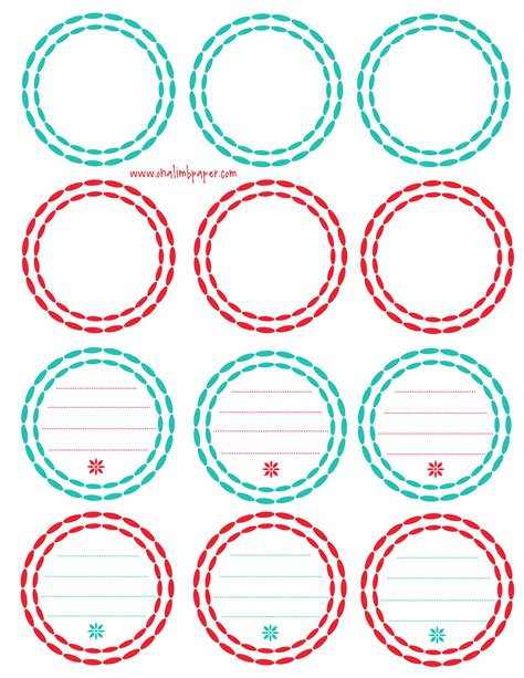 8 best images of printable round labels printable round