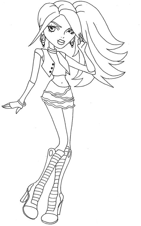 monster high printable coloring pages spectra vondergeist hairs style spectra vondergeist coloring page monster