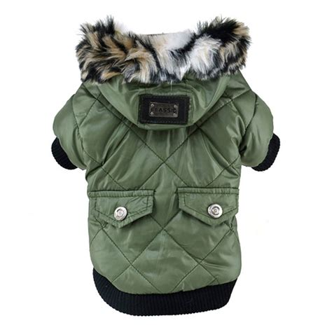puppy winter coat winter clothes large puppy warm coat for pet faux pockets fur trimmed
