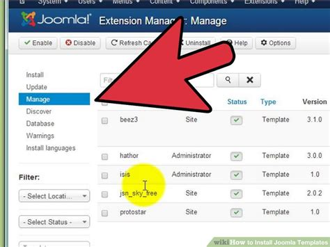 joomla theme integration steps how to install joomla templates 7 steps with pictures