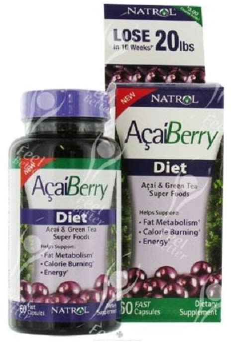Natrol Acaiberry Diet Acai And Green Tea Foods Murah natrol acai berry diet inc egcg green tea amazing for weight loss x60caps ebay