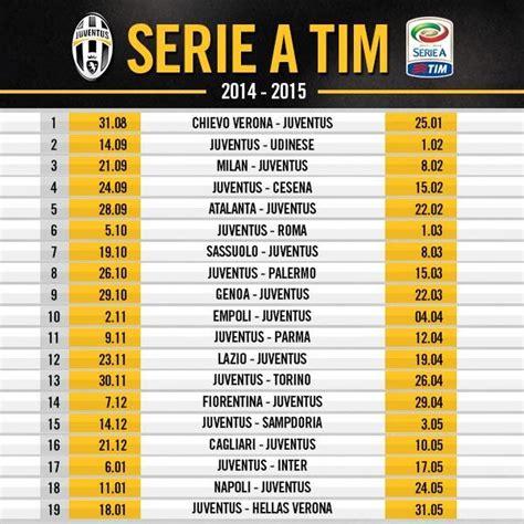Calendario Serie A Roma Juventus Juventus Serie A Fixtures 2014 15 Juvefc