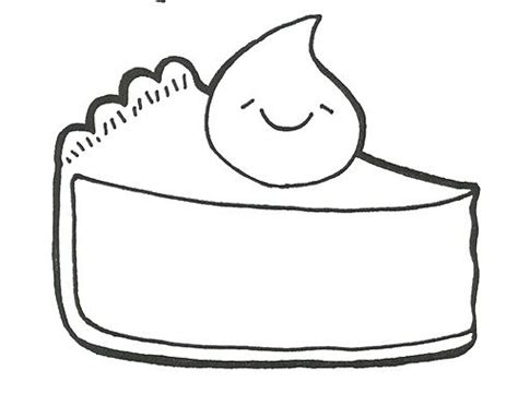 pumpkin pie slice coloring page coloring pages