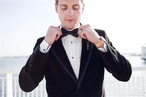 black tie groom real wedding photos onewed