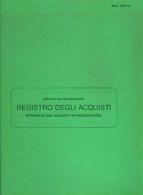 libreria giuridica bergamo registro degli acquisti in catalogo registri contabili
