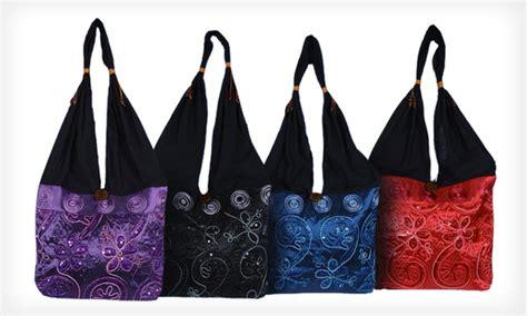 Deal Mini Silk Handbag by Embroidered Shoulder Bags Groupon Goods