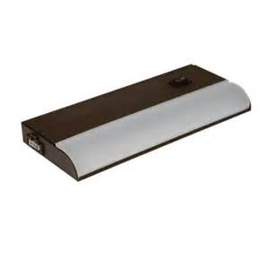 home depot cabinet lighting irradiant 8 in led bronze cabinet light luc 8