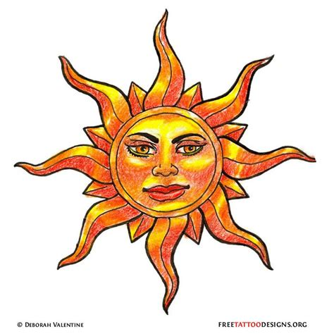 want this tattoo of yellow sun tattoo design but without