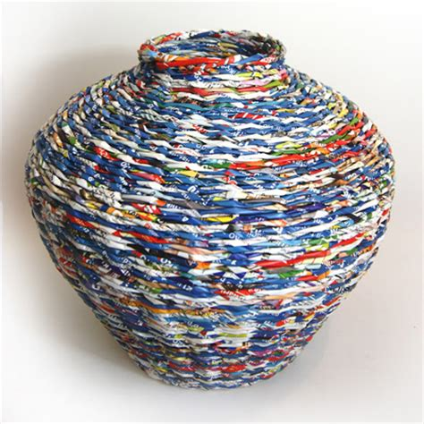 Basket With Paper - home dzine home decor weave a paper basket lshade