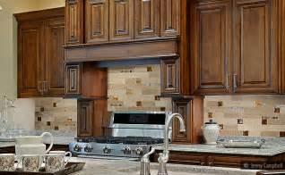 amazing Sample Backsplashes For Kitchens #1: brown-glass-backsplash-tile-kitchen-cabinets.jpg