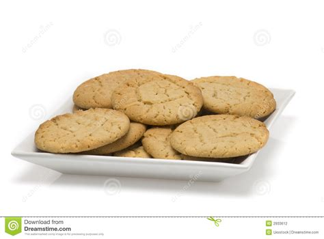 fresh cookies plate of fresh baked cookies stock photography image