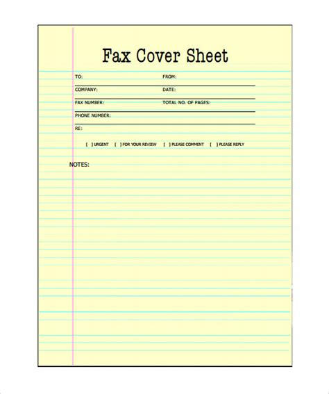printable fax cover sheet printable fax cover sheet 10 free word pdf documents