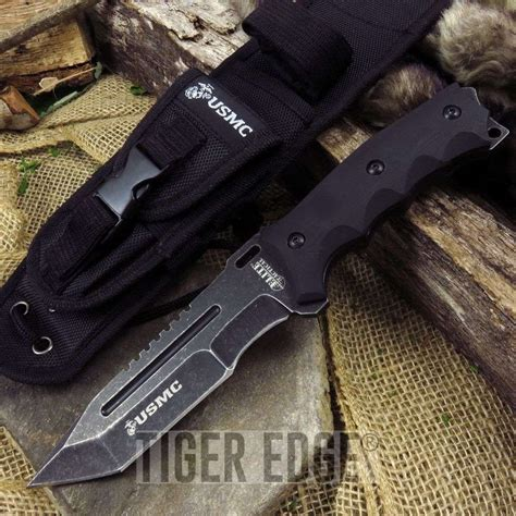 tactical knife with molle sheath elite tactical official usmc fixed blade tanto combat