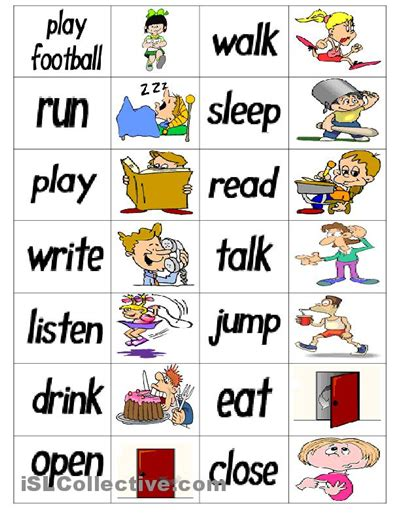drive verb 3 verb dominoes speech therapy verbs pinterest