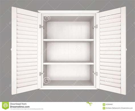 illustration  empty cupboard stock illustration