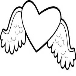 wings of coloring pages hearts with wings coloring pages cliparts co