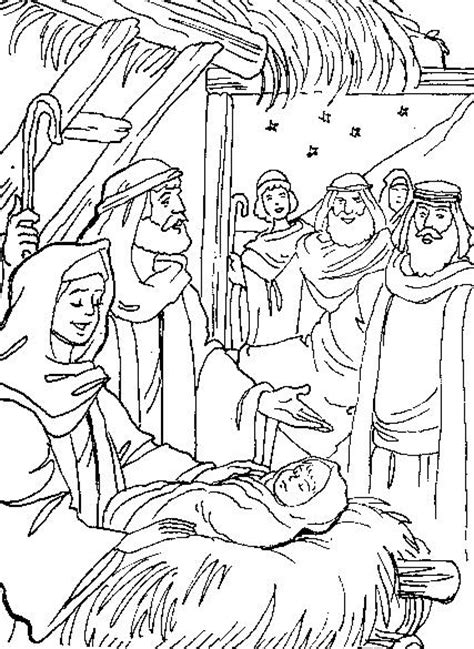 free coloring pages of jesus christ born