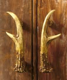 rustic lodge antler decorative hardware cabinet kitchen