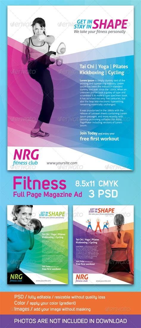 layout magazine advertising 9 best images about fitness layout on pinterest resorts