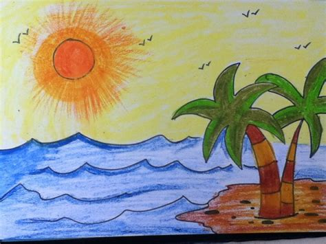 drawing teaches    draw scenery