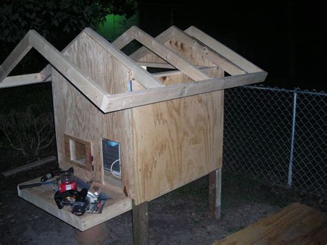 dog house air conditioner dog house roof plans numberedtype