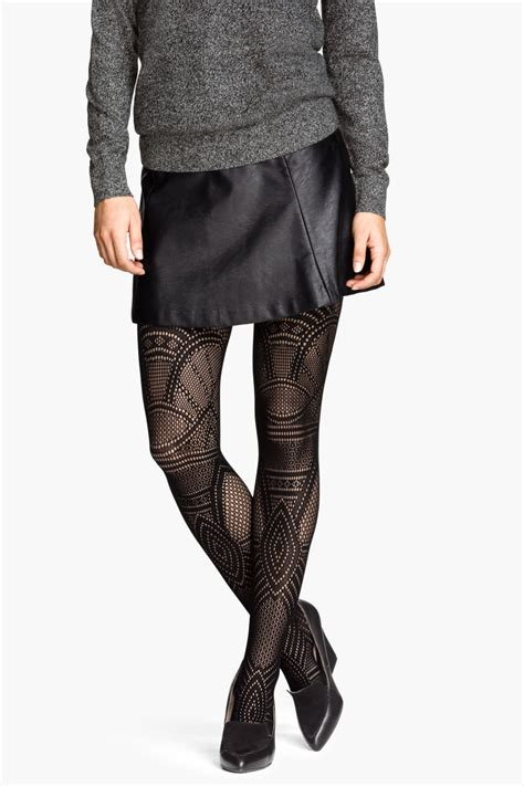 patterned tights h m lace patterned tights black sale h m us