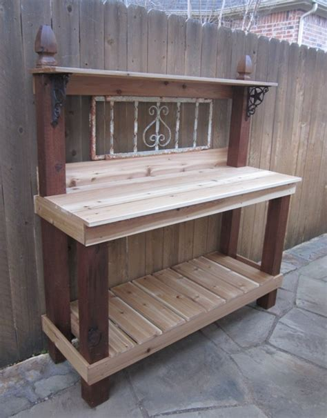 free potting bench plans woodwork gardening potting bench plans pdf plans