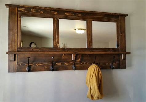 Mirror And Coat Rack by Coat Rack Wall Coat Rack Mirrored Coat Rack Rustic Coat