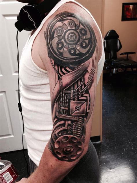 biomechanical sleeve tattoo best tattoo ideas amp designs