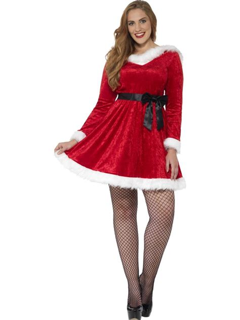 curves miss santa costume fancy dress costumes party