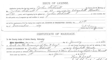 Nebraska Marriage Records The Trunk In The Attic A Prequel Henry Menke