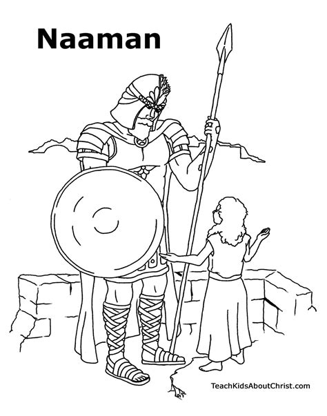 free bible coloring pages naaman naaman craft project